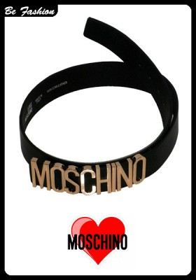 WOMEN LEATHER BELT MOSCHINO (0201MSC)